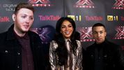 Digital Spy caught up with X Factor mentor Nicole Scherzinger and her boys, James Arthur and Jahmene Douglas ahead of the final, held at Manchester Central.