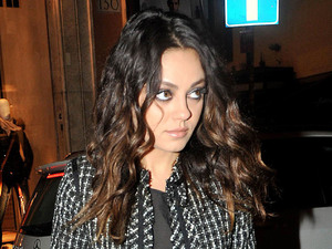 Mila Kunis at the Artists For Peace And Justice Cocktail at Vhernier Boutique.