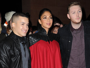 X Factor finalists and judges arrive in Manchester ahead of the grand final on Saturday night Featuring: Jahmene Douglas, Nicole Scherzinger, James Arthur Where: Manchester, United Kingdom