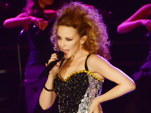 Kylie Minogue performs on the Italian X Factor