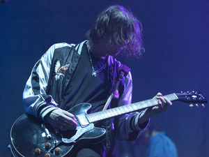 Hugo White from The Maccabees supporting Florence and The Machine at the O2 Arena, London