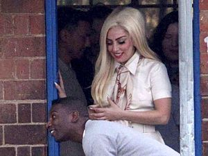 Lady GaGa, visits Mara Primary School in Johannesburg, South Africa
