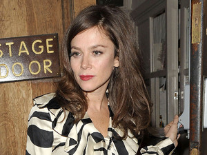 Anna Friel leaving the Vaudeville Theatre after she played in 'Uncle Vanya' London, England - 05.12.12