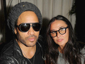 Lenny Kravitz and Demi Moore at the Beachside Barbecue presented by Chanel, Miami, Florida, America - 05 Dec 2012