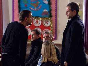 8023: While Peter and Leanne Barlow watch proudly as Simon performances in the nativity play, Nick arrives jealous and tension begins to rise