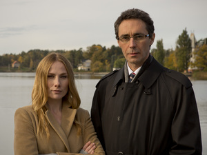 Rosie Marcel and Guy Henry in Stockholm