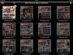 Daily Mirror iPad app screenshot
