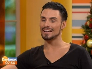 Rylan Clark during his first guest presenting spot on Daybreak, 3 December 2012