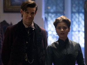 Doctor Who - &#39;The Snowmen&#39;: Matt Smith and Jenna-Louise Coleman as Clara