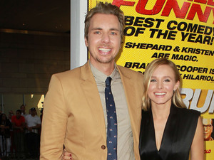 Dax Shepard, Kristen Bell at the Los Angeles premiere of 'Hit & Run' at the Regal Cinemas L.A. Live Los Angeles, California