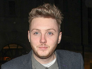 X Factor contestant James Arthur returns to his hotel. London, England