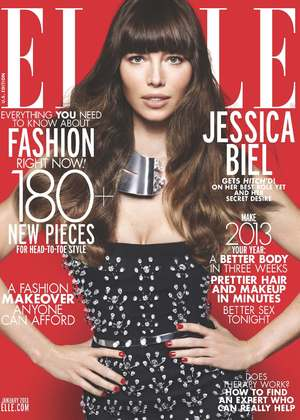 Jessica Biel covers ELLE's January issue