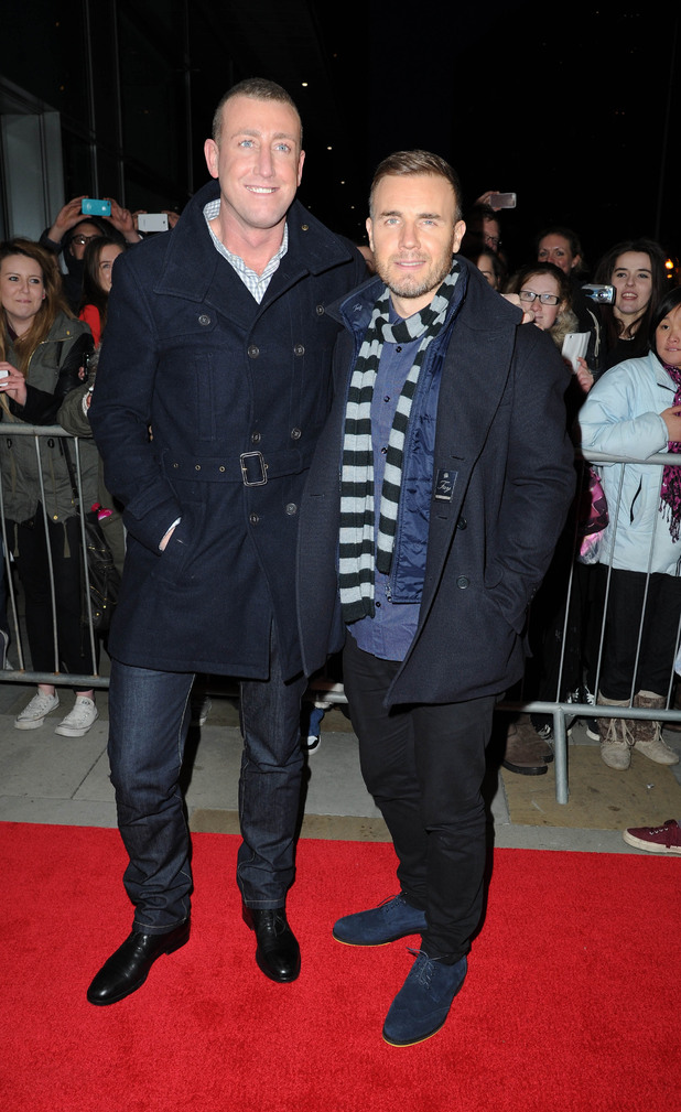 X Factor finalists and judges arrive in Manchester ahead of the grand final on Saturday night Christopher Maloney, Gary Barlow Where: Manchester, United Kingdom