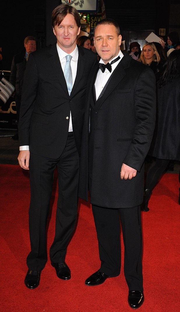 Tom Hooper and Russell Crowe