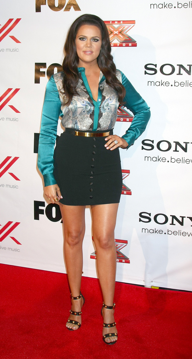 The X Factor 2012 Final Four Party at Rodeo Drive Featuring: Khloe Kardashian Odom Where: Beverly Hills, California, United States When: 06 Dec 2012