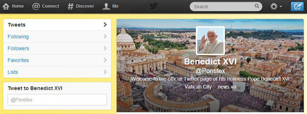 Pope to starte tweeting from @pontifex