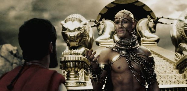 Rodrigo Santoro as Xerxes in '300'