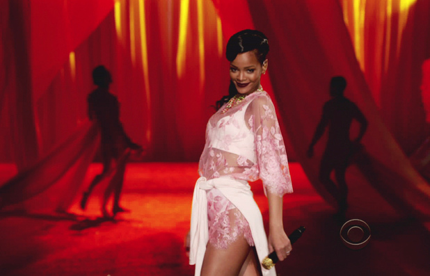 Rihanna 2012 Victoria's Secret Fashion Show on CBS At the Annual runway Show, the Angels walk the runway with performances from Rihanna, Justin Bieber and Bruno Mars USA - 04.12.12 Supplied by WENN.comWENN does not claim any ownership including but not limited to Copyright or License in the attached material. Any downloading fees charged by WENN are for WENN's services only, and do not, nor are they intended to, convey to the user any ownership of Copyright or License in the material. By publishing this material you expressly agree to indemnify and to hold WENN and its directors, shareholders and employees harmless from any loss, claims, damages, demands, expenses (including legal fees), or any causes of action or  allegation against WENN arising out of or connected in any way with publication of the material.