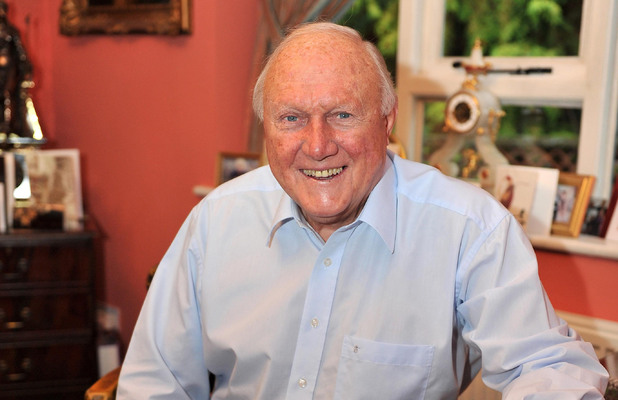 Stuart Hall pictured at his home in Wilmslow, Cheshire in December 2011