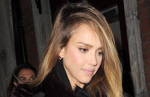 Jessica Alba arrives at Loulou&#39;s private members club just after midnight, leaving at 2.30am appearing a little worse for wear. London, England - 06.12.12