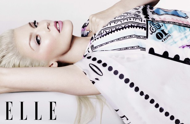 Kylie Minogue photo shoot for Elle magazine