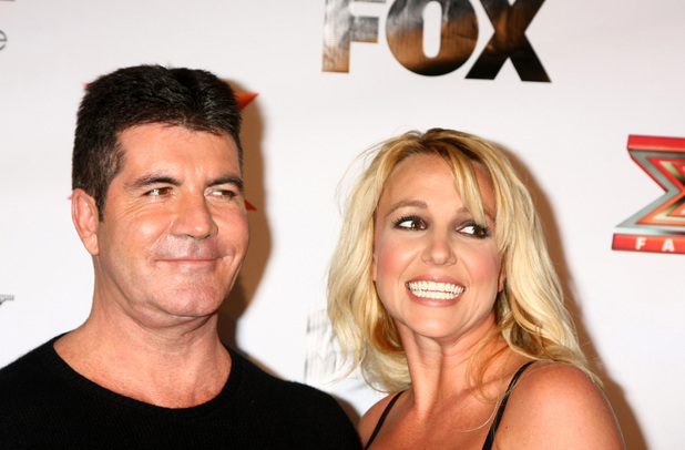 The X Factor 2012 Final Four Party at Rodeo Drive Featuring: Simon Cowell, Britney Spears Where: Beverly Hills, California, United States