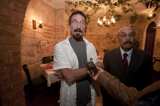 John McAfee gives a press conference in Guatemala - December 4, 2012