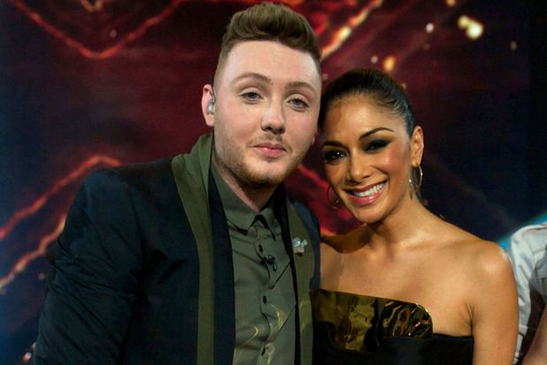 The X Factor Final: James and Nicole.