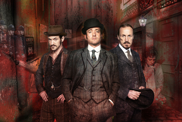 Ripper Street: Captain Jackson (ADAM ROTHENBERG), Edmund Reid (MATTHEW MACFADYEN), Bennet Drake (JEROME FLYNN)