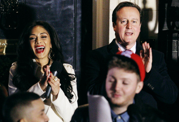 The X Factor finalists switch on Downing Street lights