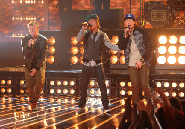 The X Factor USA Live Show - The Top 6 perform: Emblem3