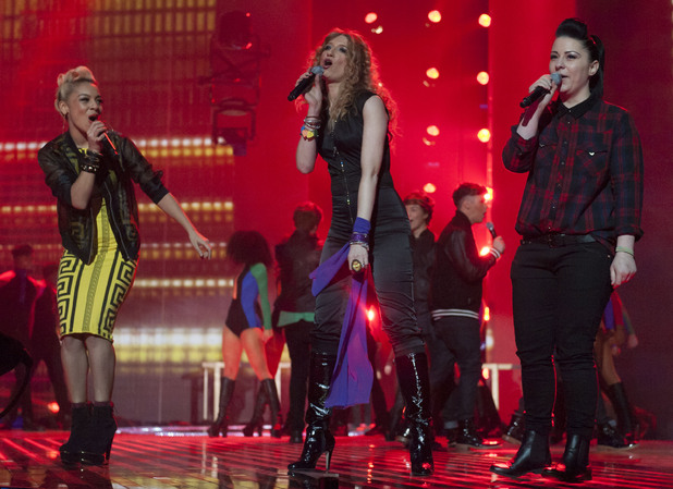 The X Factor Final: Jade Ellis, Melanie Masson and Lucy Spraggan.