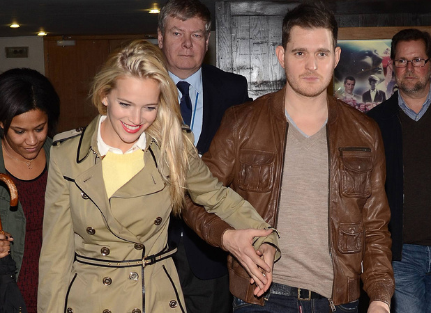 Celebrities outside the RTE Studios for 'The Saturday Night Show'Featuring: Luisana Lopilato, Michael Buble Where: Dublin, Ireland When: 25 Nov 2012 Credit: WENN.com