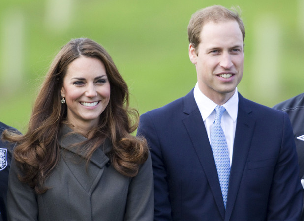 Britain&#39;s The Duke and Duchess of Cambridge attend the official opening of St. George&#39;s Park, the Football Association&#39;s National Football Centre.