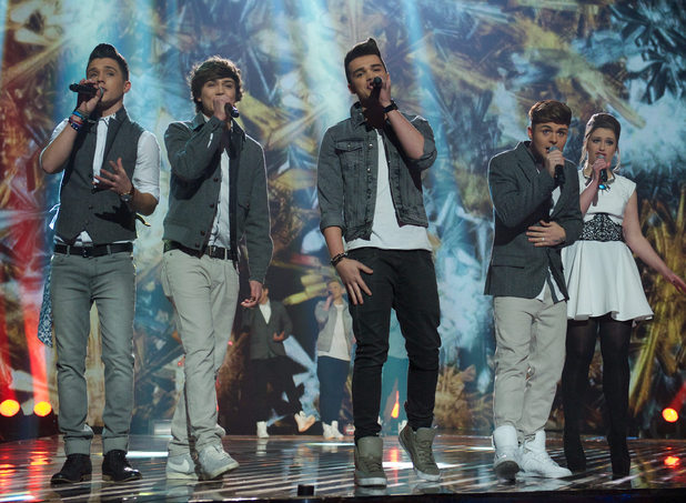 The X Factor Final: Union J and Ella.
