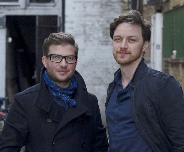 Jamie Lloyd and James McAvoy