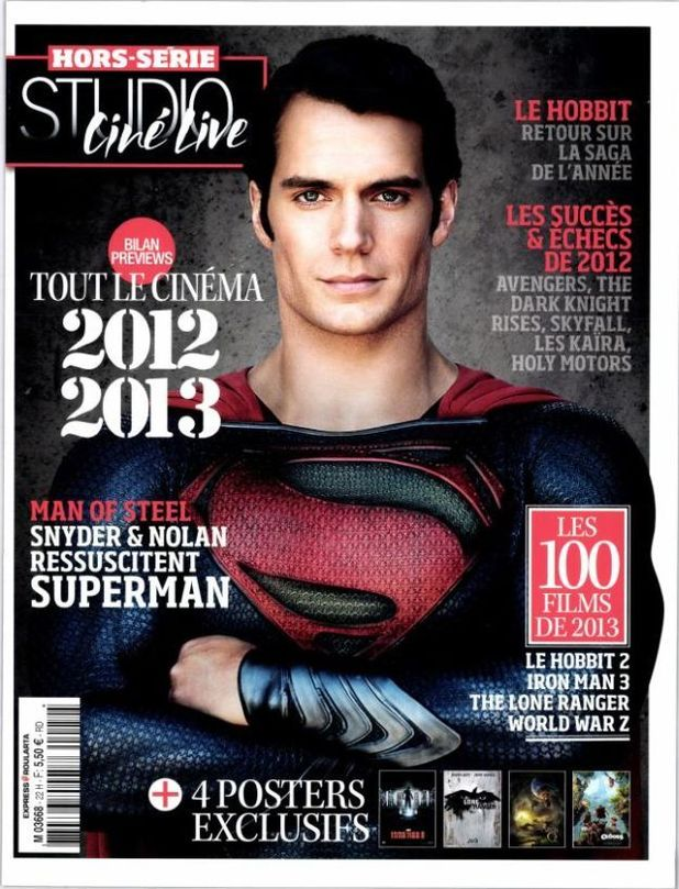 'Man of Steel': New Henry Cavill picture debuts on French magazine Studio Ciné Live
