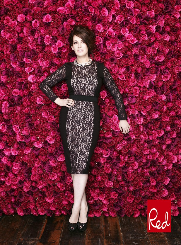 Nigella Lawson on the cover of the January edition of Red Magazine