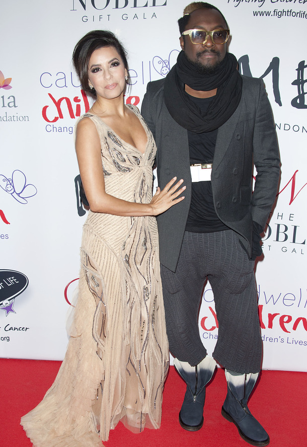 Eva Longoria and Will.I.Am The Noble Gift Gala held at the ME Hotel - Arrivals London, England - 08.12.12 Mandatory Credit: WENN.com