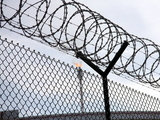 Barbed wire at prison