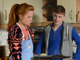 Bianca attempts to lighten the mood by getting the family to cook a big meal and bake Carol a cake.