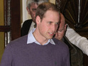 Prince William reacts to the birth of his first child.
