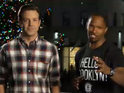 Django Unchained star shares his holiday spirit with SNL cast.
