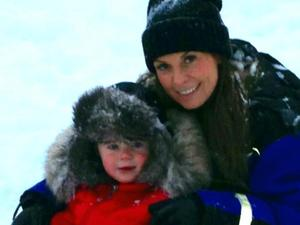 Coleen and Kai Rooney visit Lapland