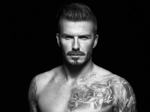 David Beckham poses in David Beckham Bodywear for H&M 2012