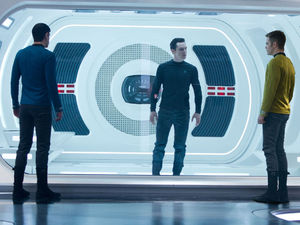 Chris Pine, Zachary Quinto & Benedict Cumberbatch In 'Star Trek Into Darkness'