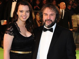 The UK Premiere of The Hobbit: An Unexpected Journey: Peter Jackson and daughter Katie