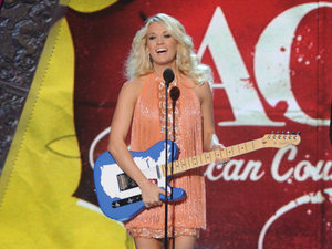 Carrie Underwood wins the Female Artist of The Year award at the 2012 American Country Awards at Mandalay Bay Resort and Casino