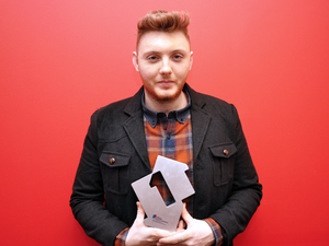 James Arthur with his number 1 award