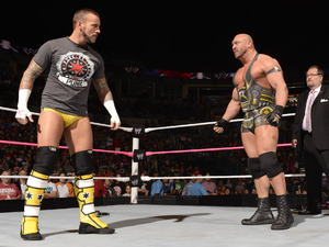 Ryback at Raw with CM Punk